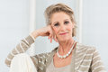 Relaxed Mature Woman Royalty Free Stock Photo