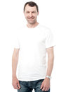 Relaxed middle age man posing casually smiling casual isolated on white Stock Photo