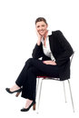Relaxed smiling corporate lady Royalty Free Stock Photo