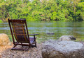 Relaxing area on riverside Royalty Free Stock Photos