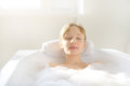 Relaxing in bath Stock Image
