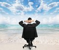 Relaxing businessman. Royalty Free Stock Photo