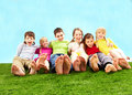 Relaxing children Royalty Free Stock Image