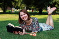 Relaxing In Nature With Book