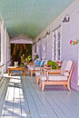 A relaxing porch in the florida keys perfect spot for hot summer s afternoon Royalty Free Stock Images