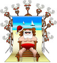 Relaxing_santa_backdrop.jpg Stock Photo