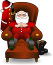 Relaxing_santa.jpg Stock Photo