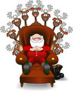 Relaxing_santa_reindeer.jpg Royalty Free Stock Images
