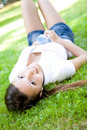 Relaxing teenager Royalty Free Stock Photo