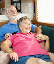 Relaxing Together in the Motor Home Royalty Free Stock Photo