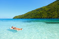 Relaxing tropical ocean vacation Royalty Free Stock Photography