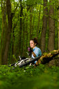 Relaxing in the woods Royalty Free Stock Images
