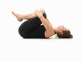 Relaxing yoga pose Royalty Free Stock Photography