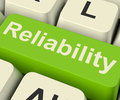 Reliability Computer Key Showing Certain Dependable Confidence Royalty Free Stock Photo