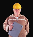 Reliable older tradesman Stock Photo