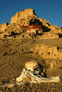 Relics of an Ancient Tibetan Castle Stock Image