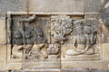 Relief in Mendut Temple Royalty Free Stock Photo