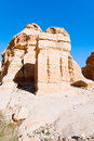 Relief of obelisk and Jinn Block in Petra Royalty Free Stock Images