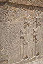 Relief in Persepolis with script Stock Images
