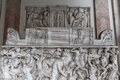 Relief sculpture of battle scene in the Vatican Museum Royalty Free Stock Photo