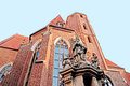 The religiois statue wroclaw poland september figure of st john of nepomuk located in front of chrch of st matthias apostle on Royalty Free Stock Photo