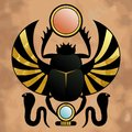 Religion of ancient egypt scarab in the symbol the god khepera Royalty Free Stock Photography
