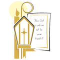 Religion christian religious symbols to announce their first communion and confirmation Royalty Free Stock Image