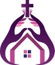 Religion hands logo
