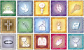 Religion icons illustration of Royalty Free Stock Images