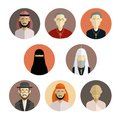 Religion icons vector image of collection of flat of Royalty Free Stock Image