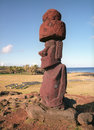 Religion sculpture on Easter island Royalty Free Stock Photo