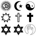 Religion symbols vector illustration of Royalty Free Stock Photography