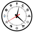 Religions clock Stock Images