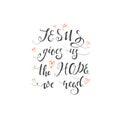 Religions lettering illustration