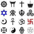 Religions symbols vector set of the most popular religious from all over the world Royalty Free Stock Photography