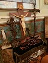 Religious altar cross and artifacts