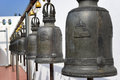 Religious bells in temple thailand Royalty Free Stock Image