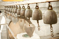 Religious bells in temple of thailand Royalty Free Stock Photo