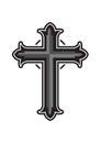 Religious christian  cross design on white background. Royalty Free Stock Photo