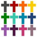 Religious cross, Christian sign icons