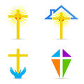Religious cross design Stock Photo