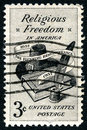 Religious Freedom US Postage Stamp Royalty Free Stock Photo