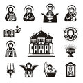 Religious icons authors illustration in vector Stock Photo