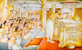 Religious painting in a Buddhist temple Royalty Free Stock Photography