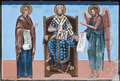 Religious painting orthodox paintings with saints Royalty Free Stock Image