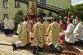 RELIGIOUS PROCESSION AT CORPUS CHRISTI DAY Stock Images