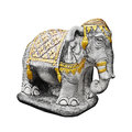 Religious sculpture the elephant - Thailand Royalty Free Stock Photography