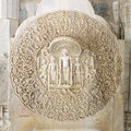 Religious sculpture in a jain temple rajasthan india Royalty Free Stock Photos
