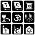 Religious symbols Royalty Free Stock Images