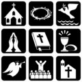 Religious symbols Stock Photography